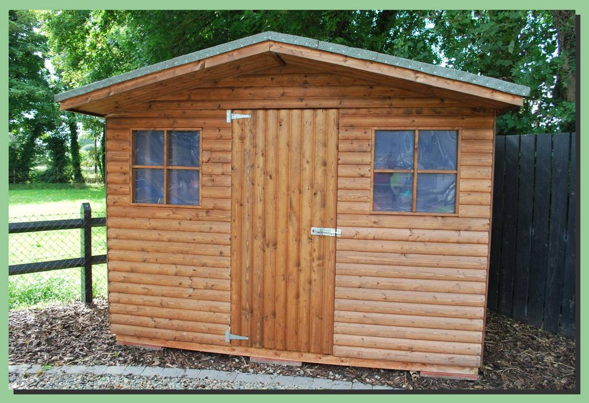 Garden sheds gilmore 39 s garden sheds ni metal sheds for Children s garden sheds